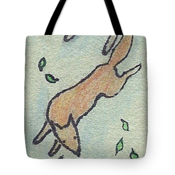 Childhood Drawing Wild Animals Tote Bag by Dawn Senior-Trask