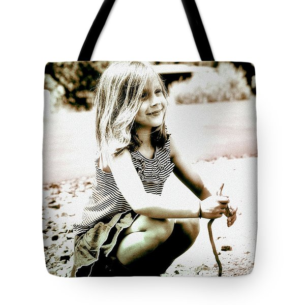 Tote Bag featuring the photograph Childhood Memories by Barbara Dudley