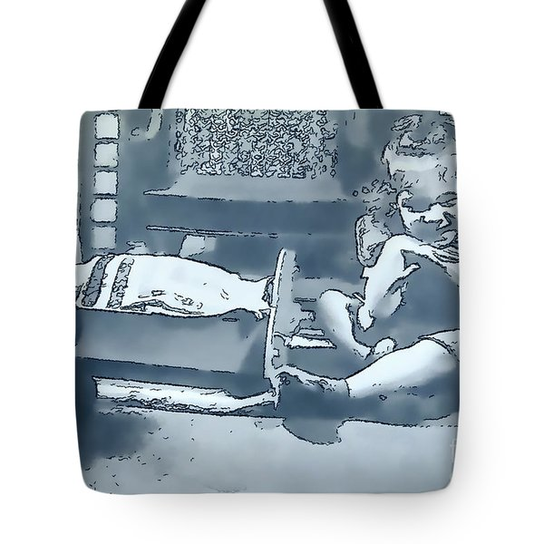 Tote Bag featuring the photograph Childhood Memories by Linda Phelps