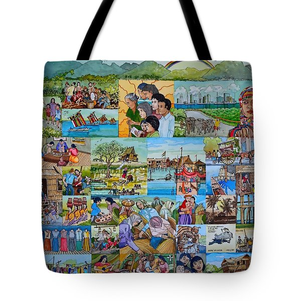 Childhood Memories Of My Mother Country Pilipinas Tote Bag