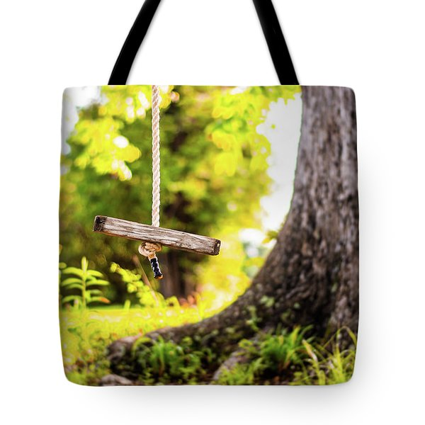 Tote Bag featuring the photograph Childhood Memories by Shelby Young
