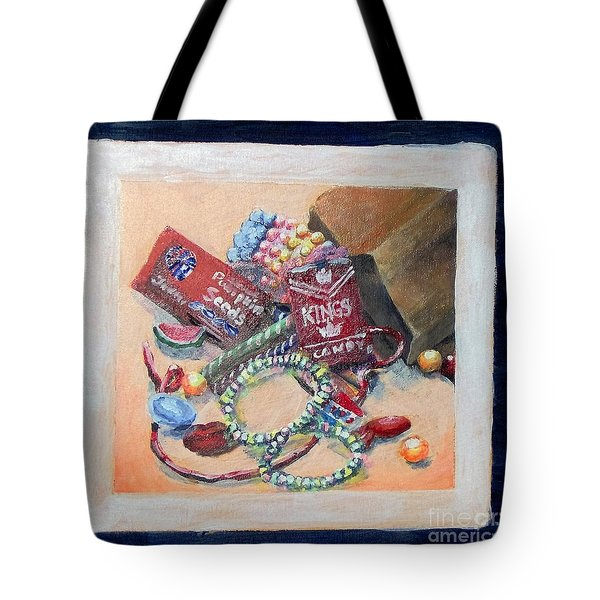Tote Bag featuring the painting Childhood Treasure by Saundra Johnson