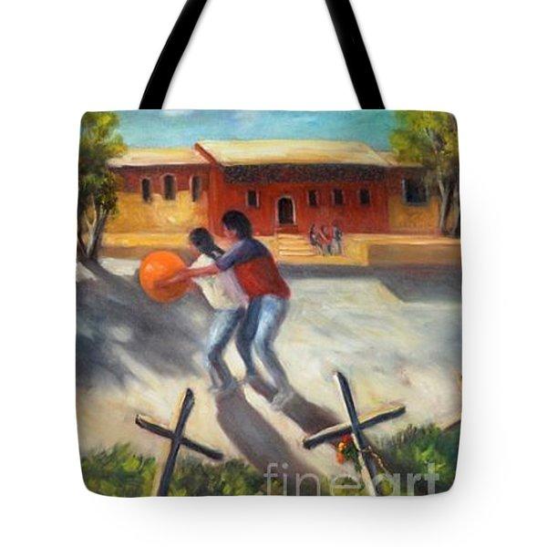 Tres Cruces De La Juventud Y La Vejez Tote Bag by Randy Burns