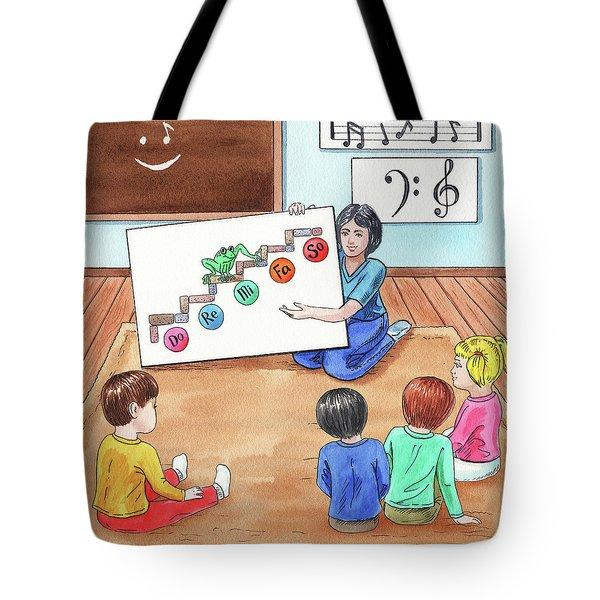Children Book Illustration Jumping Frog Tote Bag
