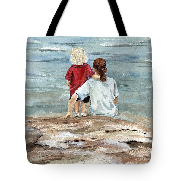 Children By The Sea  Tote Bag by Nancy Patterson