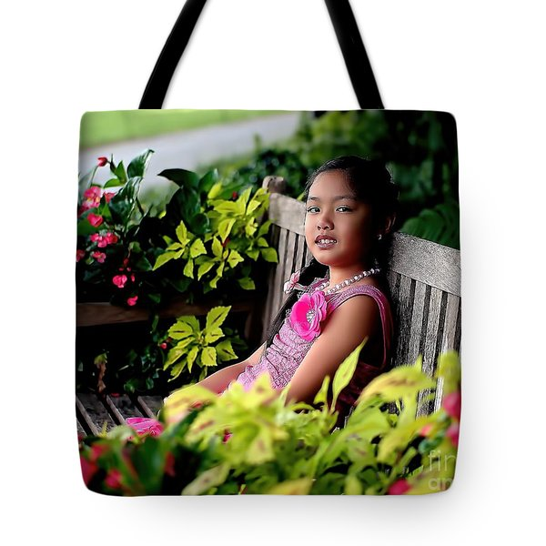 Tote Bag featuring the photograph Children by Diana Mary Sharpton