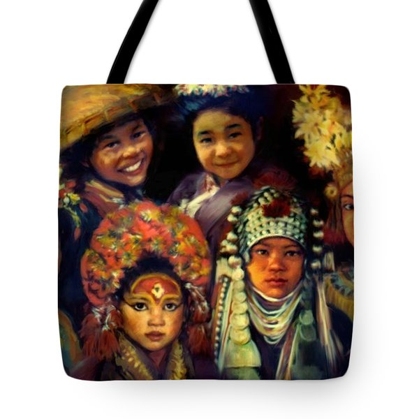 Children Of Asia Tote Bag