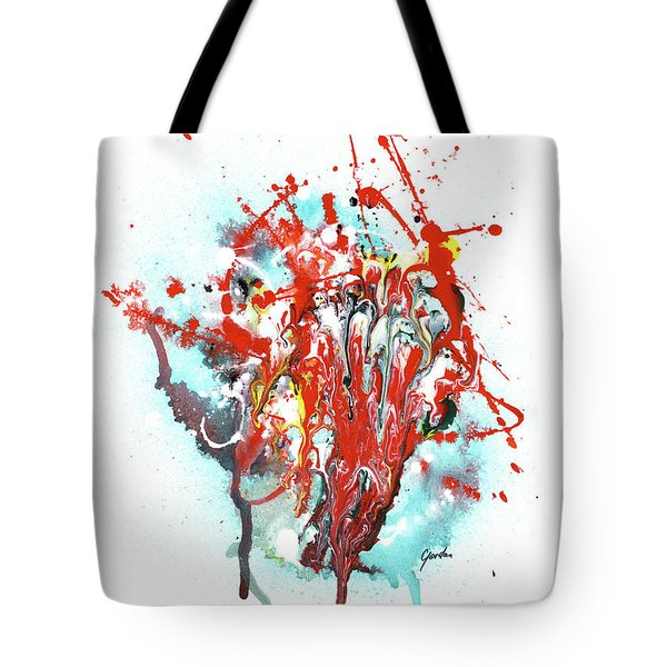 Children Of Light - Colorful Bright Read And Blue Abstract Art Painting Tote Bag