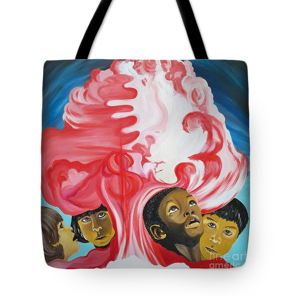 All God's Children.             Children Of The Nuclear Age Tote Bag