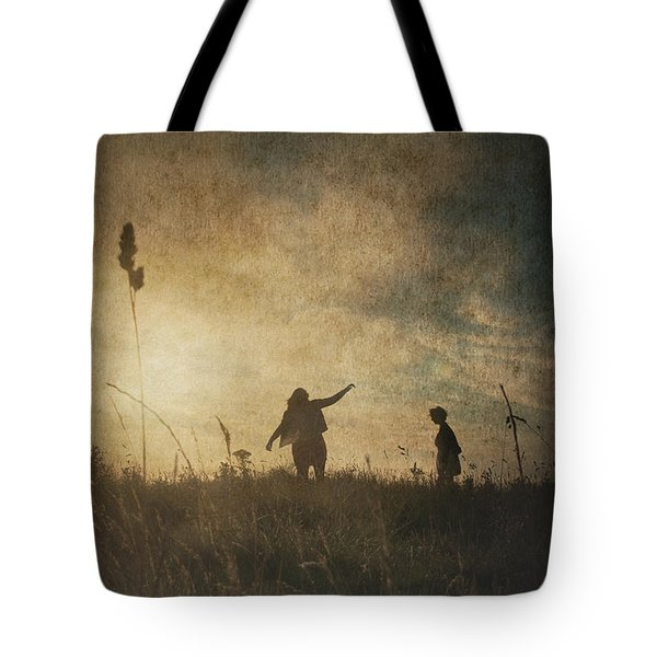 Children Playing Tote Bag