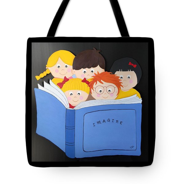 Children Reading Book Tote Bag