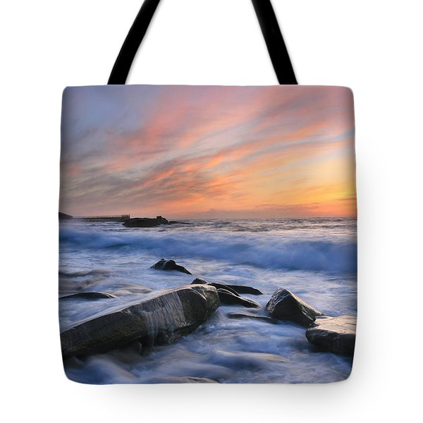 Children's Pool Sunset Tote Bag by Scott Cunningham