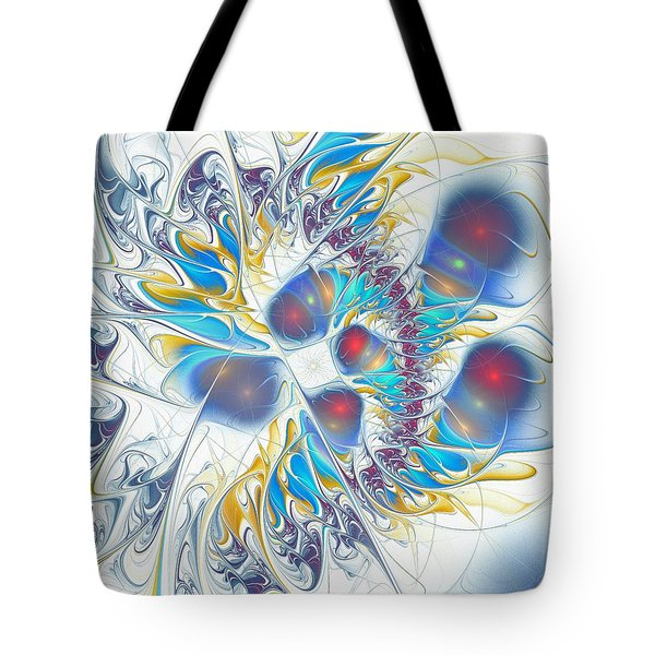 Tote Bag featuring the digital art Child's Play by Anastasiya Malakhova