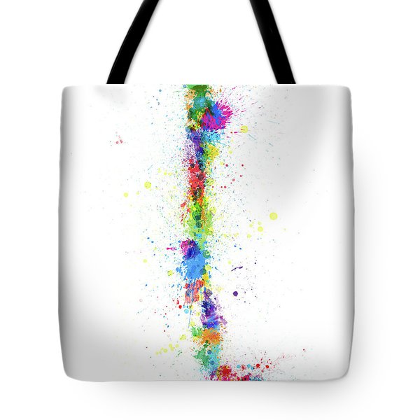 Chile Paint Splashes Map Tote Bag