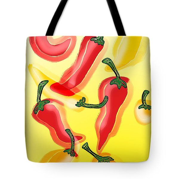 Chiles En El Sol Tote Bag