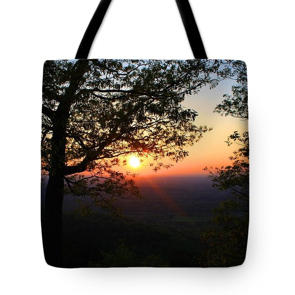 Tote Bag featuring the photograph Chilhowee Sunset by Kathryn Meyer
