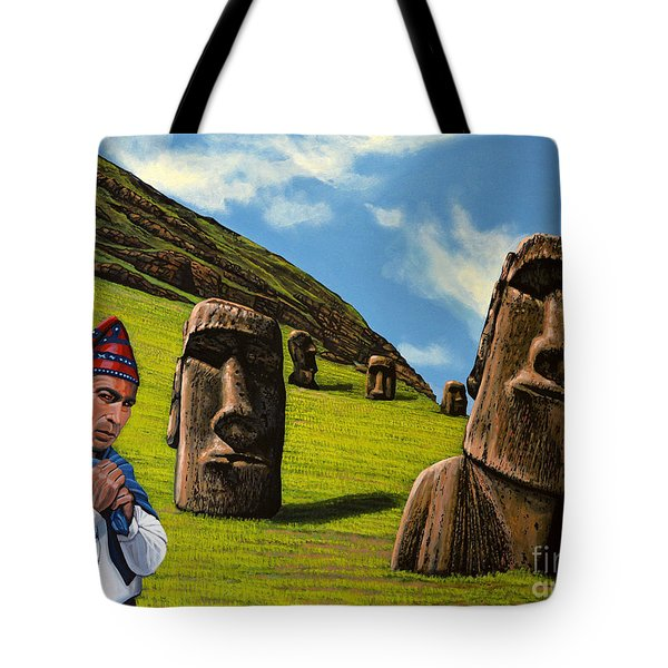 Chile Easter Island Tote Bag by Paul Meijering