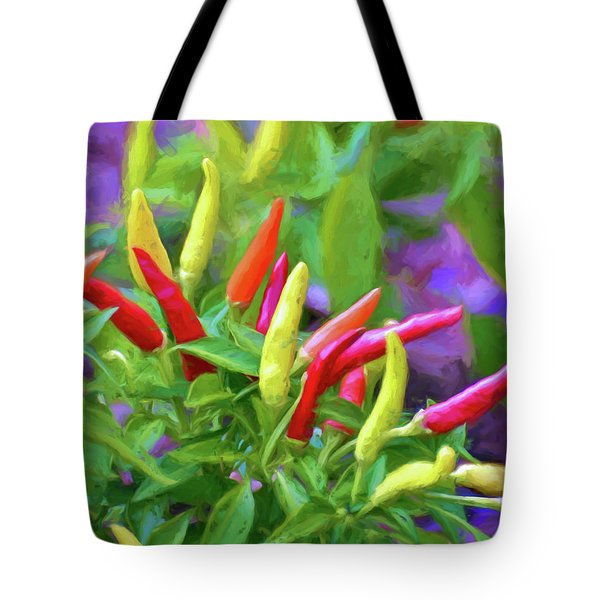 Tote Bag featuring the photograph Chili Pepper Art by Kerri Farley