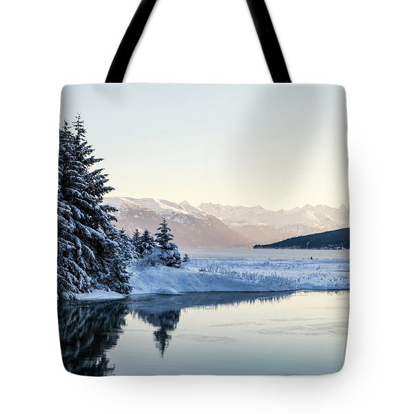 Chilkoot Inlet In Winter Tote Bag