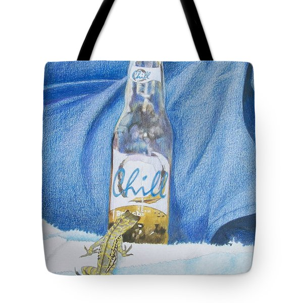 Tote Bag featuring the mixed media Chill by Constance DRESCHER