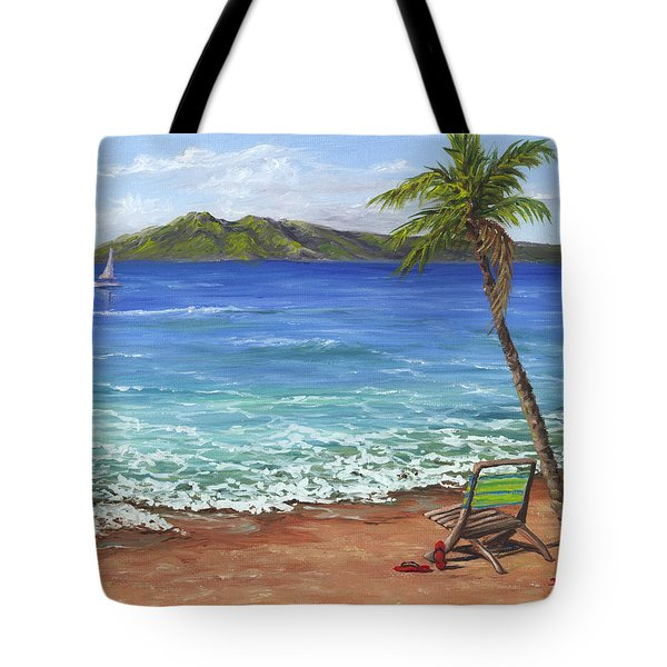 Tote Bag featuring the painting Chillaxing Maui Style by Darice Machel McGuire