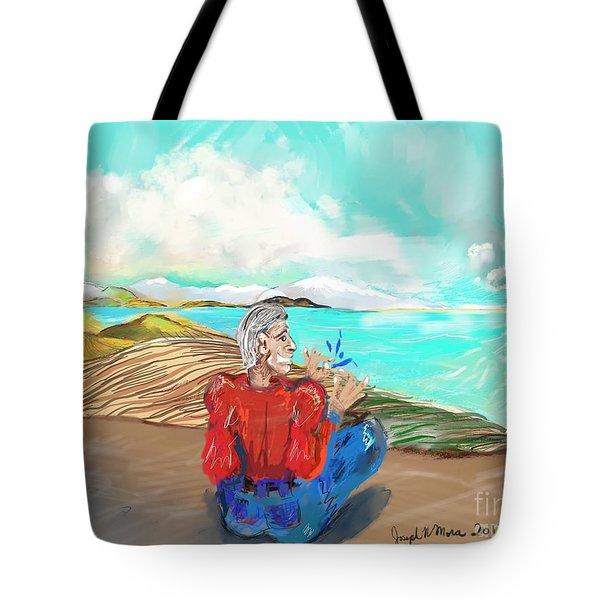 Chillin' Caricature Joe Tote Bag