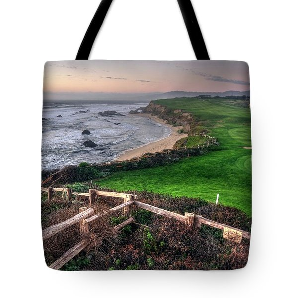 Tote Bag featuring the photograph Chilling At Half Moon Bay by Peter Thoeny