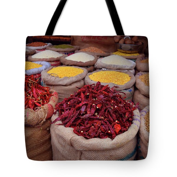 Chilliy Peppers Tote Bag by Mini Arora