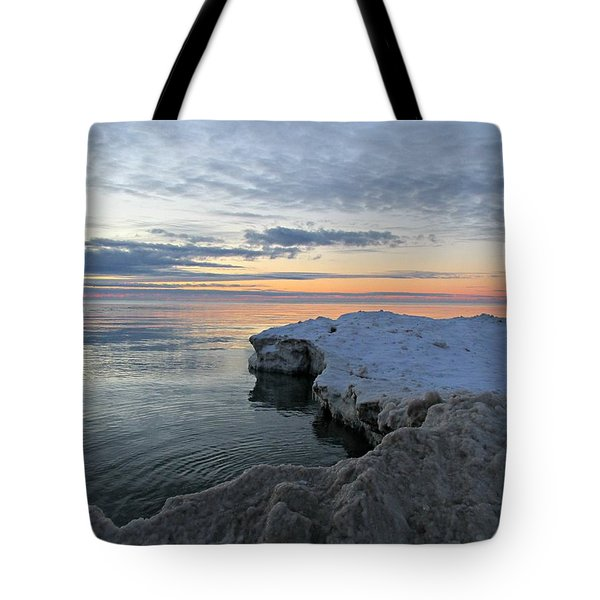 Tote Bag featuring the photograph Chilly View by Greta Larson Photography