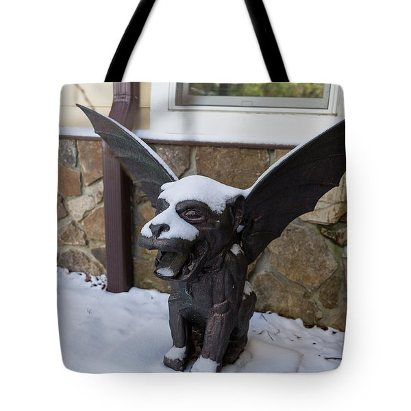Chimera In The Snow Tote Bag