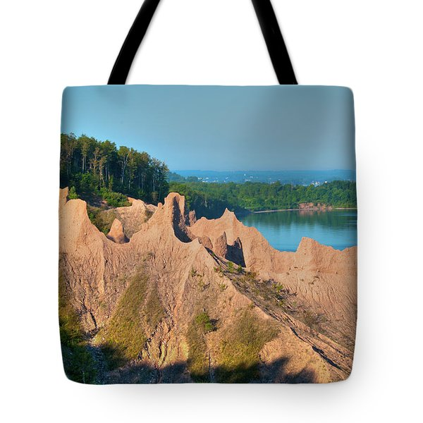 Chimney Bluffs 1750 Tote Bag