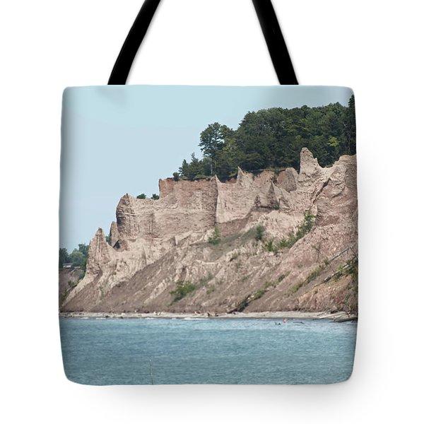 Chimney Bluffs Tote Bag