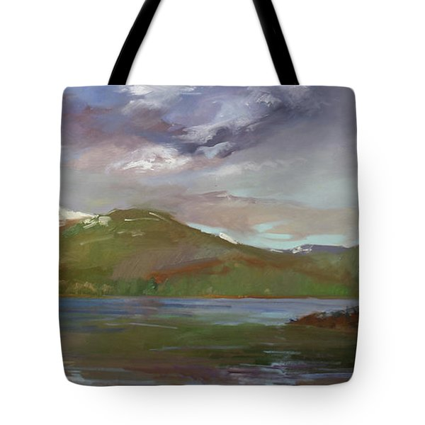 Chimney Rock  At Priest Lake  Plein Air Tote Bag