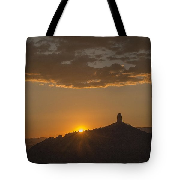 Chimney Rock Sunset Tote Bag
