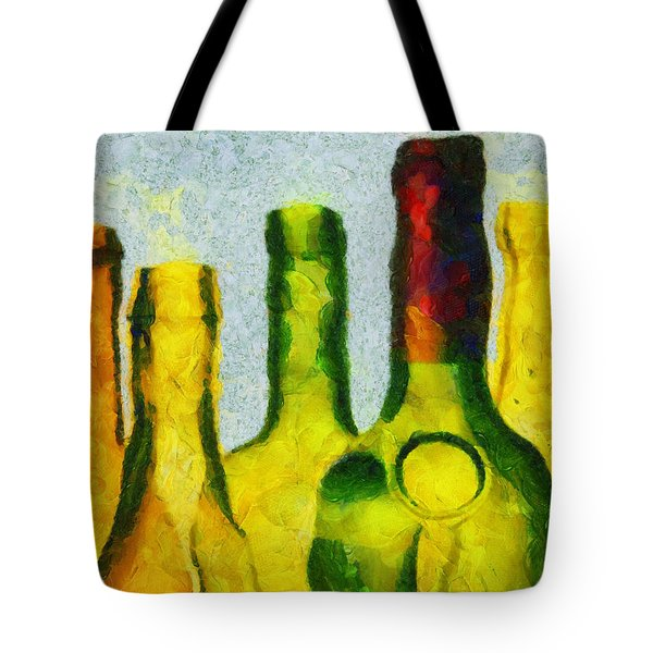 Tote Bag featuring the painting Chimneys Of Lust by Sir Josef - Social Critic - ART
