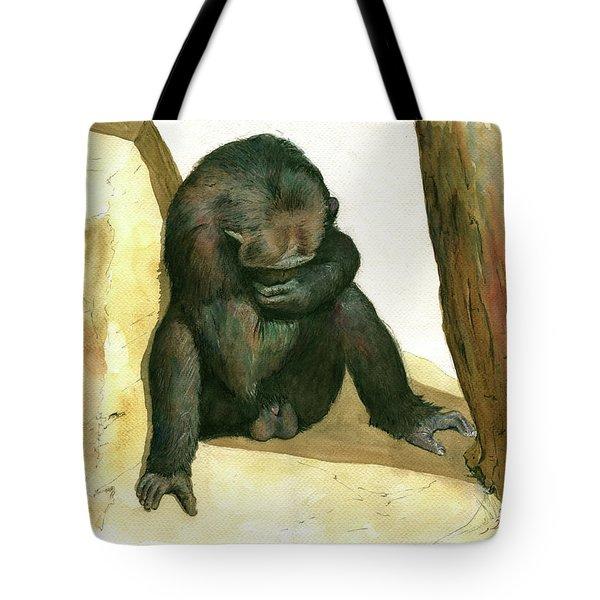 Chimp Tote Bag by Juan Bosco