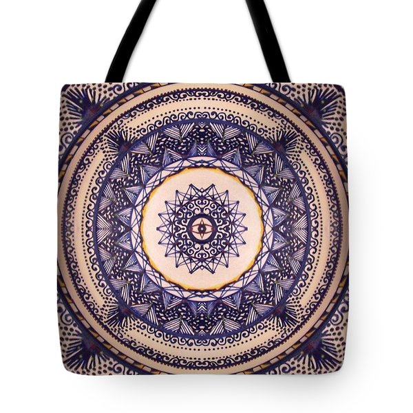 Tote Bag featuring the painting China Blue by Kym Nicolas