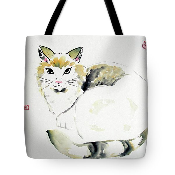 China Cat Tote Bag