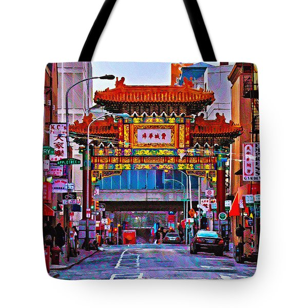 Chinatown Arch Philadelphia Tote Bag by Bill Cannon