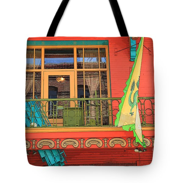 Tote Bag featuring the photograph Chinatown Balcony by Jeanette French