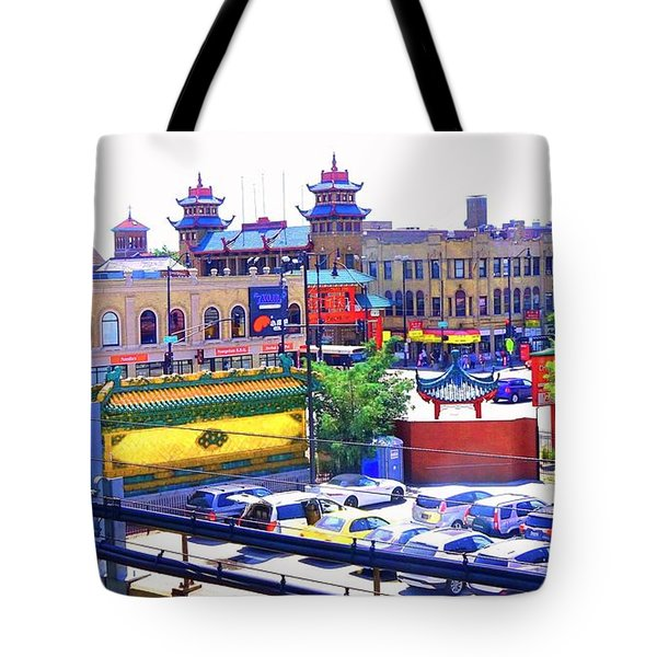 Chinatown Chicago 1 Tote Bag by Marianne Dow