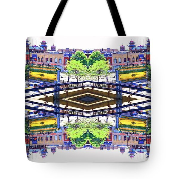 Chinatown Chicago 3 Tote Bag by Marianne Dow