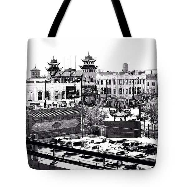 Chinatown Chicago 4 Tote Bag by Marianne Dow