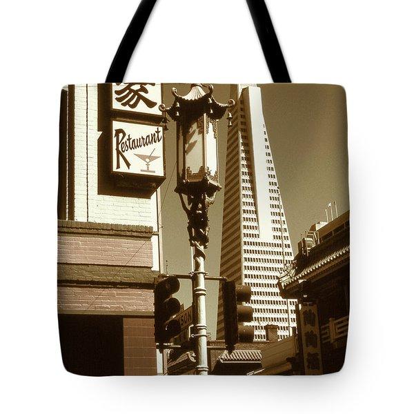 Chinatown San Francisco - Vintage Photo Art Tote Bag