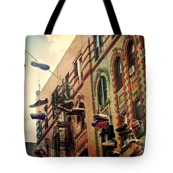 Chinatown Shoe Fling Tote Bag