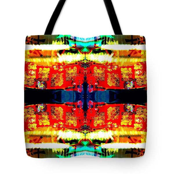 Tote Bag featuring the photograph Chinatown Window Reflection 5 by Marianne Dow