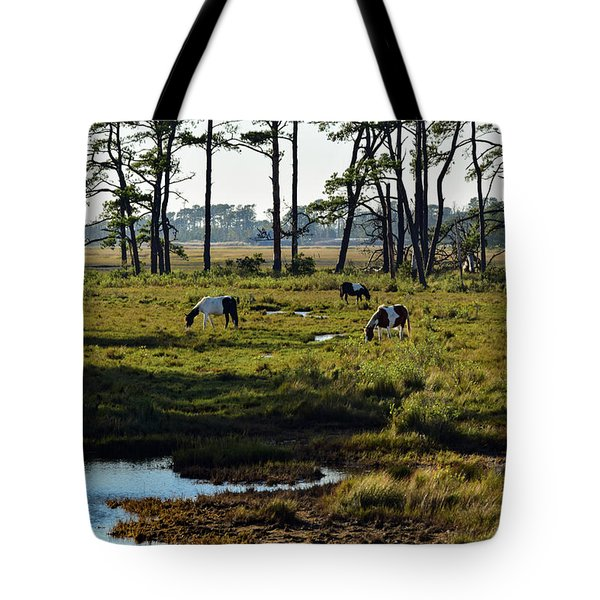 Chincoteague Ponies Tote Bag