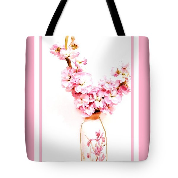 Tote Bag featuring the digital art Chinese Bouquet by Marsha Heiken