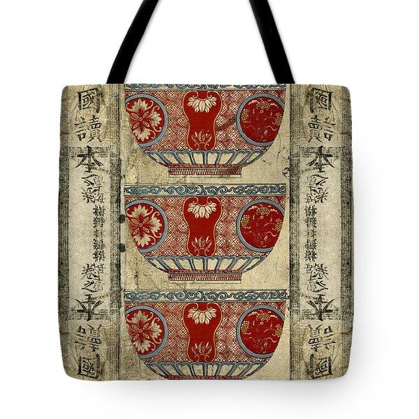 Chinese Bowl Design Tote Bag