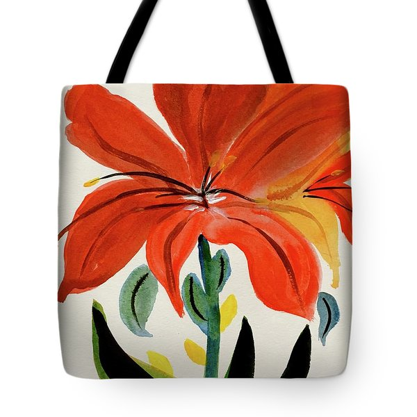 Chinese Brush Work Bee And Flower Tote Bag
